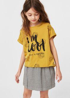 Koszulka brokatowy wzór   MANGO KIDS