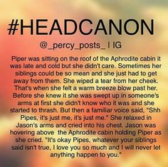 Piper and Jason headcanon