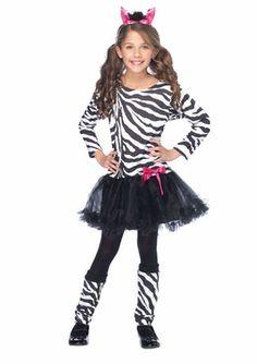 Little Zebra Costume for Girls