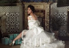 Hwang Jung Eum has slipped back into a wedding dress once again.but not for another holy matrimony.The gorgeous actress tried on frilly, soft whit… Kim Jong Min, Bridal Gowns, Wedding Gowns, Hwang Jung Eum, Wedding Shoes Heels, Korean Actresses, Red Carpet Dresses, Kpop Girls, Bride Groom