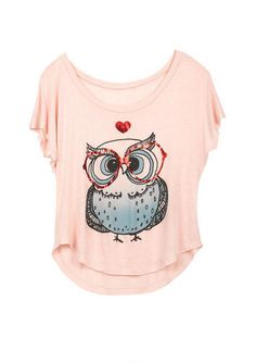 Hoot Heart Tee - View All Graphic Tees - Graphic Tees - dELiA*s