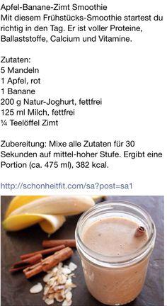 Banane Apfel Zimt Smoothie