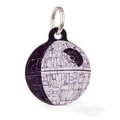 ThinkGeek :: Star Wars Death Star Pet ID Tag with QR code, scan to retrieve owner/pet info and NO SUBSCRIPTION FEES! Totally free and is an officially licensed Star Wars Collectible. 3 sizes available.