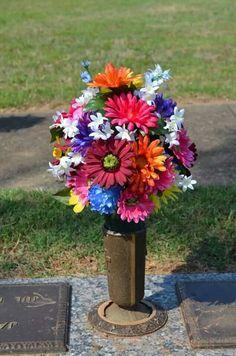 Assorted Flower Cemetery arrangements for vases.
