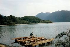 Out of the Wild, 7 years in the New Zealand Wilderness (Non Fiction book). Picture floating building materials into Jamestown Bay, Hollyford Track, Fiordland National Park Building Materials, Nonfiction Books, Wilderness, New Zealand, Remote, National Parks, Track, Survival, Outdoor Decor