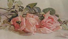 Roses Print Rhoda Holmes Nicholls Half Yard Long Antique Rose Flower Floral