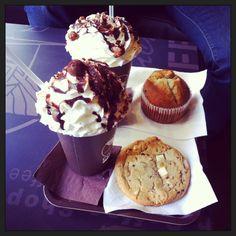 Choco frio Maltesers, cookie chocolat blanc et muffins