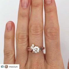 This custom stone cluster ring by mociun is just next-level dreamy. Reposted Via @rileyandgrey