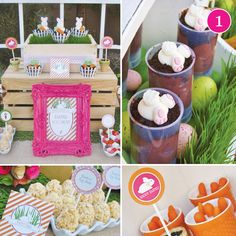 This blog has the cutest party ideas! So many parties to choose from it's hard to narrow it down! {Party of 5} Easter Egg Hunt, Elephant Birthday, Owl Baby Shower, Vibrant Wedding, & Hunger Games