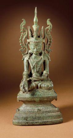 Buddha Bhaishajyaguru Burma (Myanmar), Shan States, century Sculpture Copper alloy 10 x 4 x 2 in. Buddha Sculpture, Lion Sculpture, Buddha Statues, Buddha Figures, Buddhist Philosophy, Burma Myanmar, Divine Mother, Guanyin, Buddhist Art