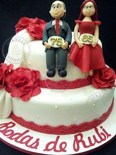 Resultado de imagen para tarjetas para aniversario de bodas de rubi 40 añospara facebook