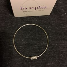 Lia Sophia Treasure Trove Crystal Bangle Bracelet