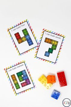 Looking for a hands-on way to practice letters and numbers?! Students will BEG to repeat these building block challenges. The print and play cards have kids build all 26 uppercase letters, their 26 lowercase pairs PLUS the numbers 0 to 20. Students will have so much fun that they won't even realize they're working on problem solving, geometry, math vocabulary... even beginning fractions! **Affiliate Link