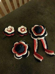 17 mai pynt Spring, Crochet, Desserts, Food, Chrochet, Deserts, Crocheting, Dessert, Meals