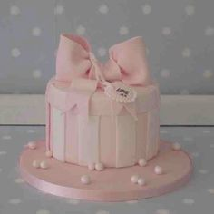 Pretty in pink hat box cake