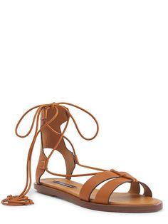 Ralph Lauren Renny Calfskin Sandal - Ralph Lauren Shop All - Ralph Lauren France