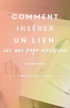 Remark insérer un lien dans un article sur Wordpress ? Web Business, Online Business, Marketing Services, Web Seo, Creer Un Site Web, Site Wordpress, Online Journal, Website Design Company, Make Blog