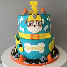 #mulpix Another Paw Patrol cake...this one featuring Rubble! #pawpatrol…