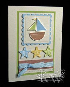 {Baby Boy Boat} using Stampin Up Nursery Necessities