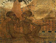 El arte del Nilo: IMPERIO NUEVO: Escultura. Paréntesis de Amarna. Hijas de Akenatón. Ashmolean Museum Oxfor