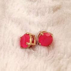 Neon Pink Gumdrops Studs The classic Gumdrops Studs by Kate Spade in neon pink kate spade Jewelry Earrings