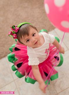 Watermelon Birthday Iron-On Design. Super cute birthday outfit!