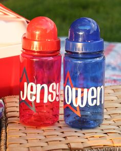 I like this water bottle idea!!! Oh the possibilities!!! @Laura E. Watts we really COULD open Make and Bake! ;)