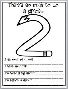 Third Grade Thinkers: First Day of School Quick Write Activity