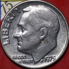 Looking For Rare Dimes? Have You Got A 1975 Dime? Here's What To Look For On A 1975 Roosevelt Dime Looking for rare coins? Do you have a penny from Here's What to Look for in a 1975 Roosevelt Dime Valuable Pennies, Rare Pennies, Valuable Coins, Old Coins Value, Penny Values, Rare Coins Worth Money, Coin Worth, American Coins, Error Coins