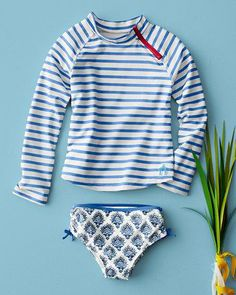 Striped Rashguard Set by Cabana Life