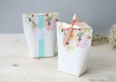 3 floral gift boxes, wedding favor boxes, bridal shower favor boxes, gift…