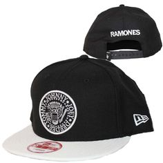 10f6b4d67 Officially licensed Ramones New Era hat featuring the band's tongue logo  embroidered on the front of the hat. The New Era logo is embroidered on the  side.