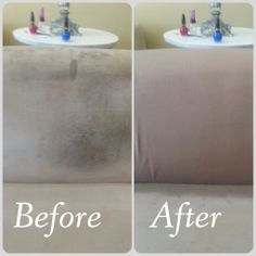 Gp2 Removed Red Wine Coffee And General Dirt Grime From This Suede Couch In