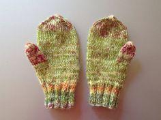 Hand gestrickte Handschuhe mit Daumen Größe 18-36 von olinnell