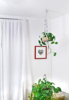 Make a Hanging Planter From an Old T-Shirt! | A Beautiful Mess | Bloglovin'