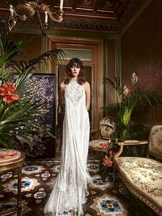 Fringed wedding dress PARSIFLORA. #newCollection #weddingtrends2017 #bride…