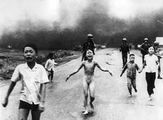 The 9-year old girl in the photo, Phan Thị Kim Phúc, survived her burnings from the napalm bombing after 14 months in the hospital. The photographer took her to the hospital before he delivered the film to AP. HOPE IT WILL NEVER HAPPEN AGAIN.