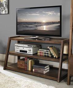 This Sawhorse TV Stand is perfect! #zulilyfinds