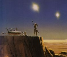 Ralph McQuarrie Star Wars art -- I want this hanging in my room!!