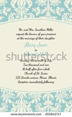 Wedding Invitations And Announcements Vintage Invitation With