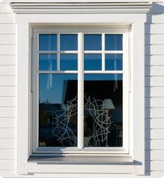 Check out this neat photo - what an imaginative project Home Window Grill Design, House Outside Design, House Front Design, Window Design, Craftsman Exterior, Exterior Trim, House Paint Exterior, House Windows, Windows And Doors