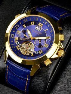 Calvaneo Astonia Luxury Blue Gold: Amazon.es: Relojes
