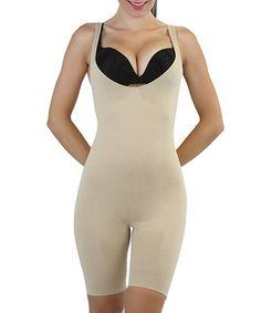 Loving this Beige Full Body Long-Leg Shaper - Women & Plus on #zulily! #zulilyfinds