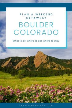 Use our helpful weekend getaway travel guide on what to do, where to eat, and where to stay in this mountain destination. Travel Advise, Travel Guide, Holiday Destinations, Travel Destinations, Boulder Colorado, Sunny Beach, Backpacking Tips, Tour Guide, Weekend Getaways