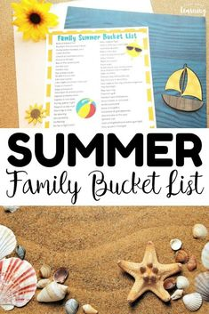 Schedule a fun summer with your family this year with this printable family summer bucket list! This summer bucket list printable is great for keeping the kids entertained during break. Over 60 summer bucket list ideas in one printable! Outdoor Activities For Kids, Preschool Activities, Summer Bucket Lists, Business For Kids, Summer Kids, Fun Learning, Schedule, Homeschooling Resources, Family Bonding