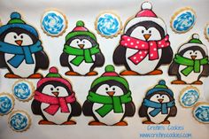 Erin the Penguin cookie cutter in two sizes in stock HERE: www.cristinscookiecutters.com  Cristin's Cookies: Penguin Cookies with Cookie Cutter In Two Sizes #penguincookiecutter #wintercookiecutter #cookiecutter