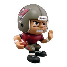 """Lil Teammates Series Tampa Bay Buccaneers Running Back Figurine (Edition 1)  - Catch the fever of the hot new toy collectible craze with these poseable 3"""" vinyl team figures, available in various positions, series and uniform combinations. These little guys, dressed in the uniforms of your favorite teams, are tall and feature very animated faces and rotating heads. Collect all the positions and teams. 3 inches tall Rotating heads Officially licensed Series Collectible NFL License: Tampa Bay…"""