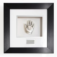 One framed baby hand cast