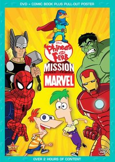 """Phineas And Ferb Mission Marvel Language : English  Genre : Documentary, Family , Animation  Duration : 2h 28mn  Size : 580 MB  Quality : DVDRiP  Release Year : 2013  Submit by : Napster  Description : Phineas and Ferb: Mission Marvel movie was released Oct 01, 2013 by the Walt Disney Home Video studio. In """"Phineas and Ferb: Mission Marvel,"""" Spider-Man, Iron Man, Thor and Hulk stand powerless after being struck by Dr. Phineas and Ferb: Mission"""