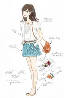 'what I wore today' by oana befort